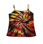 RED YELLOW BLACK WHITE SWIRL Womens - Tank Top