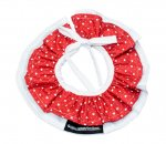 WHITE HEARTS RED CLOWN COLLAR