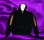 HOODIE WITH YELLOW UP AND DOWN FLAMES