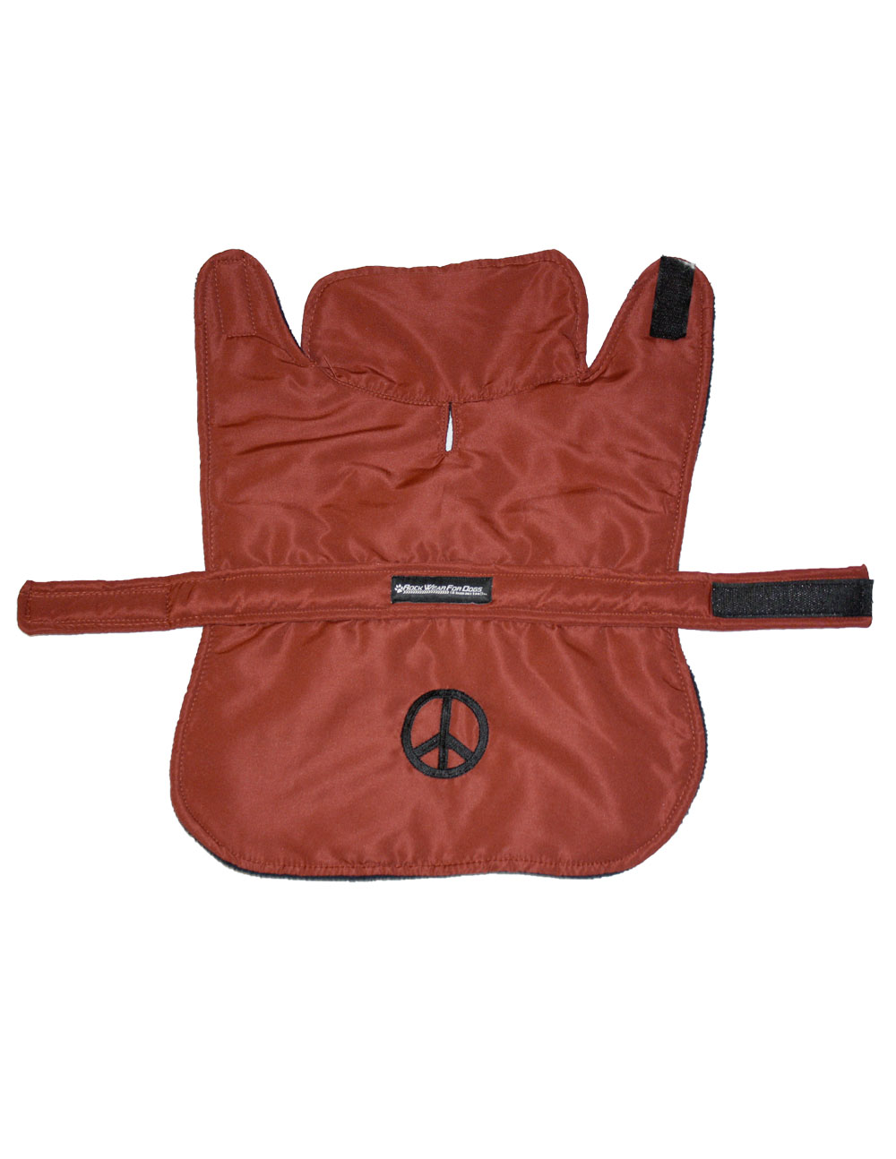 RUST JACKET WITH PEACE SIGN - Click Image to Close