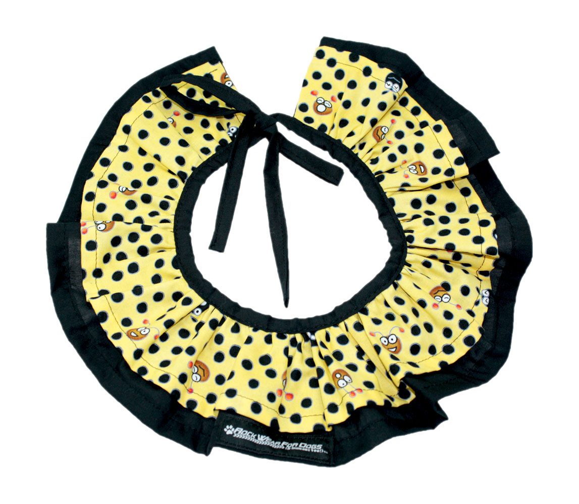 YELLOW DOTS FACES CLOWN COLLAR - Click Image to Close